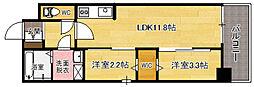 modern palazzo天神南[6階]の間取り