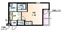 兵庫県西宮市津門大箇町の賃貸アパートの間取り