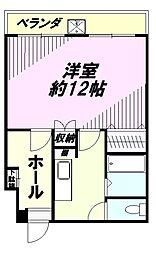 中野田口ビル[4階]の間取り