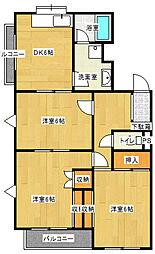 神奈川県川崎市多摩区寺尾台1丁目の賃貸マンションの間取り