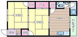 源氏の荘[2階]の間取り