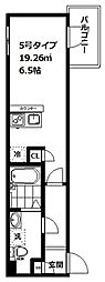 JR山手線 大崎駅 徒歩13分の賃貸アパート 2階1Kの間取り