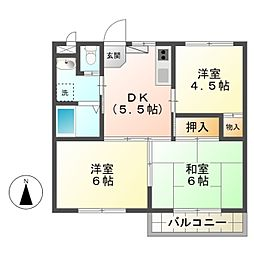 KRAFT BLDG IV[3階]の間取り