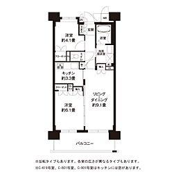 東京都世田谷区北烏山2丁目の賃貸マンションの間取り