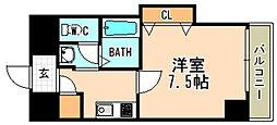阪急今津線 宝塚南口駅 徒歩7分の賃貸マンション 12階1Kの間取り