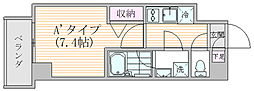 エスジーコート元浅草 4階1Kの間取り