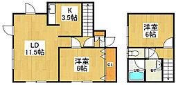 [テラスハウス] 北海道小樽市潮見台2丁目 の賃貸【/】の間取り
