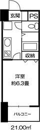 ドミール錦糸町[0310号室]の間取り