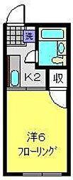 シティハイム中田A[201号室]の間取り