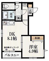 (仮称)たかの台マンション 3階1DKの間取り