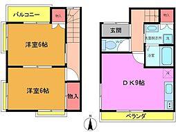 [テラスハウス] 千葉県市川市北方町4丁目 の賃貸【/】の間取り