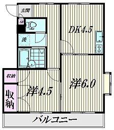 東京都品川区南大井1丁目の賃貸マンションの間取り