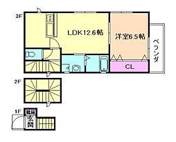bell salle(ベルサール)[3階]の間取り