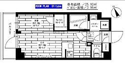小田急小田原線 経堂駅 徒歩9分の賃貸マンション 1階1DKの間取り