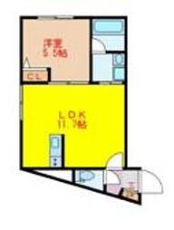 東武東上線 中板橋駅 徒歩1分の賃貸マンション 4階1LDKの間取り