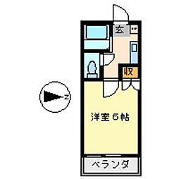 Pure Stream.com TAKIYAMA[2階]の間取り