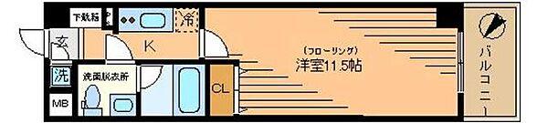 アリュージュ三ノ輪[1402号室]の間取り