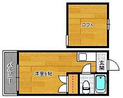 井尻ローズパレス[204号室]の間取り