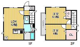 [テラスハウス] 東京都新宿区中井2丁目 の賃貸【/】の間取り