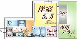 兵庫県神戸市須磨区須磨浦通3丁目の賃貸アパートの間取り