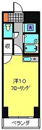 ミラクルイン横浜[403号室]の間取り