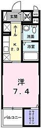 東京都青梅市東青梅5の賃貸マンションの間取り