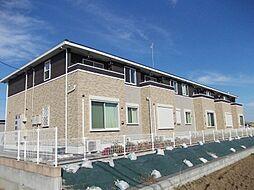 茨城県筑西市蕨の賃貸アパートの外観
