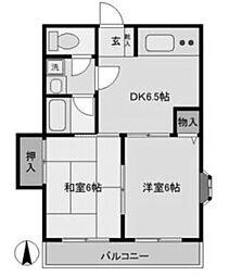 田村マンション[301号室]の間取り