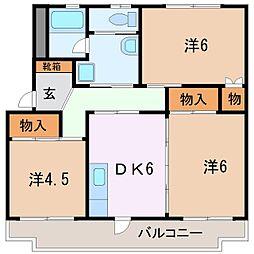コーポ・AFB[4階]の間取り