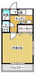 松栄(しょうえい)コーポII[105号室]の間取り