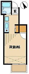 パティオ橋本[1階]の間取り