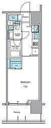 JR山手線 上野駅 徒歩13分の賃貸マンション 12階1Kの間取り
