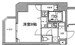 S-RESIDENCE大森山王 2階1Kの間取り
