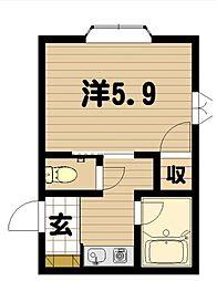 フレンズマンションII[305号室]の間取り