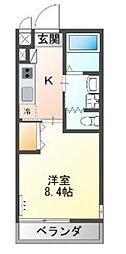 JR東海道本線 戸塚駅 徒歩14分の賃貸マンション 1階1Kの間取り