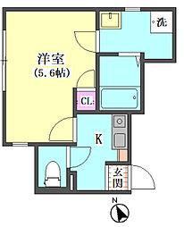 仮)大田区東矢口3丁目1410新築アパート[103号室]の間取り