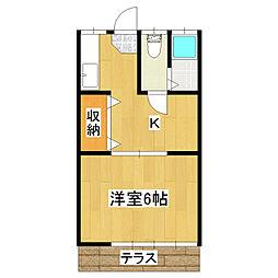 第二丸誠荘[102号室]の間取り