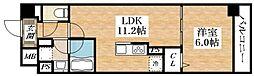 Osaka Metro谷町線 平野駅 徒歩6分の賃貸マンション 2階1LDKの間取り