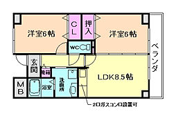IHARAマンション[3階]の間取り