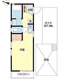 Fコート新吉田II[204号室]の間取り