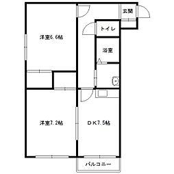 北海道札幌市中央区南十三条西16丁目の賃貸マンションの間取り