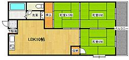 ノウブルハイツ平野[3階]の間取り
