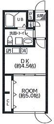 アート・フルひばりサクセス 2階1DKの間取り