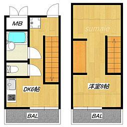 ハスネ・ワールドアパートメント[2階]の間取り