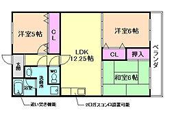 メゾン楓[3階]の間取り