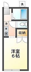 吉野ハイツA[2階]の間取り