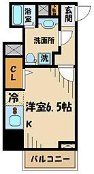 N-stage Toyoda 11階1Kの間取り