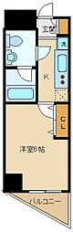 西武多摩湖線 一橋学園駅 徒歩3分の賃貸マンション 9階1Kの間取り