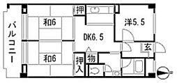コーポ鷺宮5[3階]の間取り