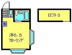 神奈川県横浜市港北区日吉本町2丁目の賃貸アパートの間取り